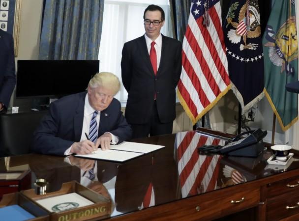 us president donald trump, executive order for taxes, trump tax plan, us treasury secretary Steven Mnuchin