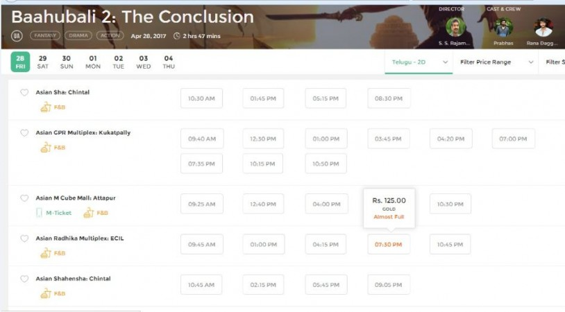 Hyderabad - Movie ticket online booking & show times near you.
