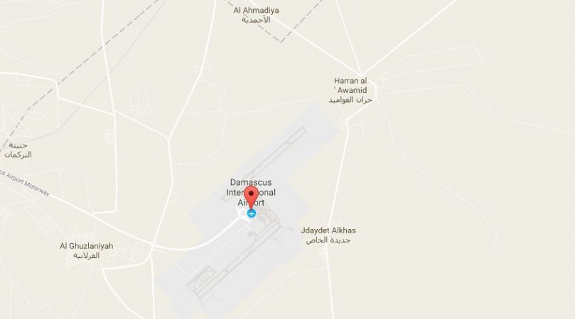 'Huge' explosion at Damascus airport