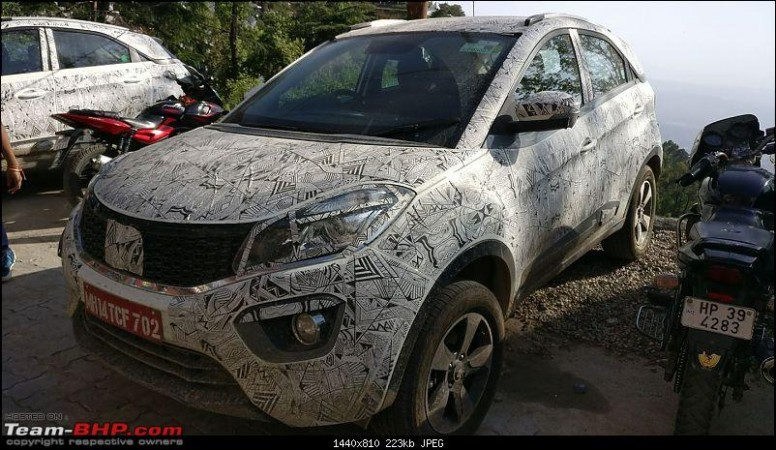 Tata Nexon Compact Suv Spied Testing As Launch Nears