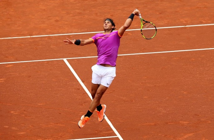 Rafael Nadal Trains For Madrid Open Tournament