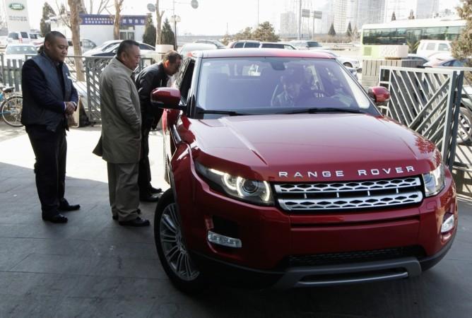 Weak jlr volume sales for april pull tata motors down for Tata motors range rover