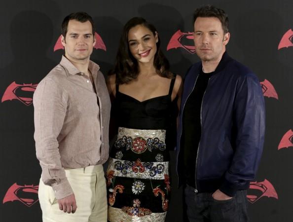 Henry Cavill Superman, Gal Gadot Wonder Woman, Ben Affleck Batman