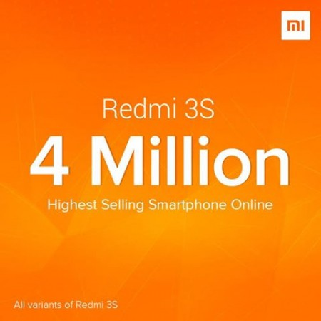 Xiaomi Redmi 3S sales set new record in India !!