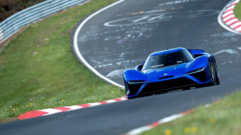 NIO EP9 electric vehicle claims new Nurburgring lap record