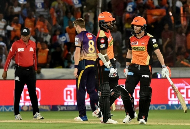 Unimpressive Sunrisers score 128/7 against KKR