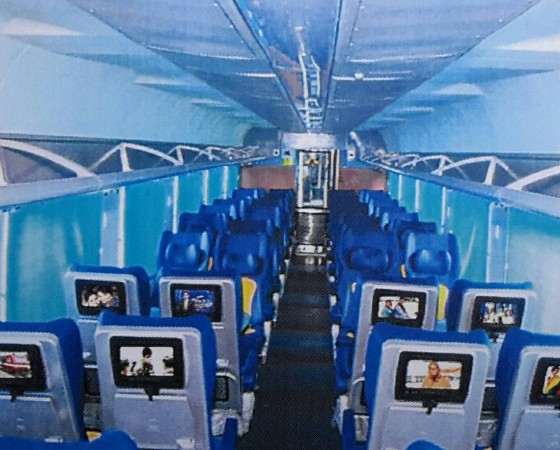 Interior of the Tejas Express