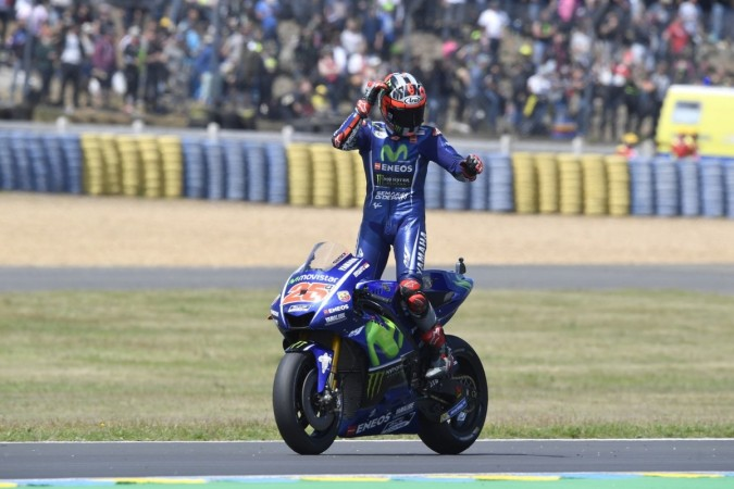 MotoGP 2017: Maverick Vinales wins thrilling French GP, Valentino Rossi crashes out at final lap ...