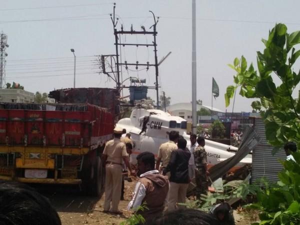 Maharashtra CM Fadnavis escapes unhurt after his helicopter crash-lands
