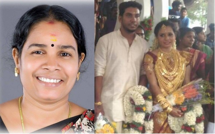 Geetha Gopi Kerala CPI MLA Geetha Gopis daughter covered in gold for wedding