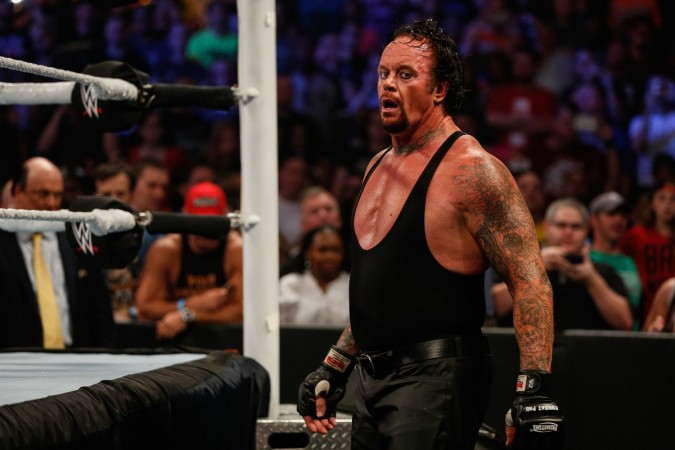 The Undertaker during a WWE matchJP Yim  Getty