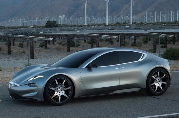 Fisker shows off Tesla Model S fighter
