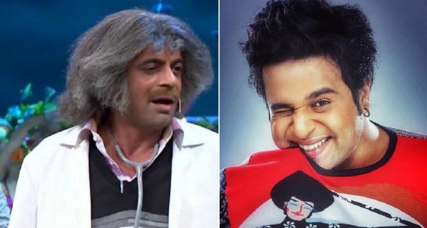 What is Sunil Grover doing with Varun Dhawan? View pic