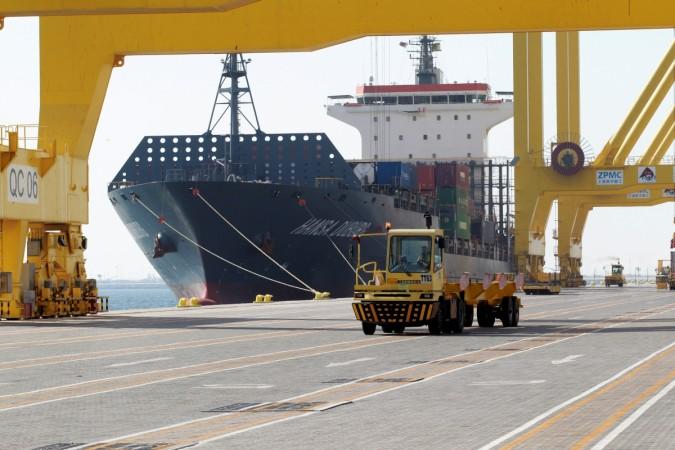 US Warchip Doha Hamad Port