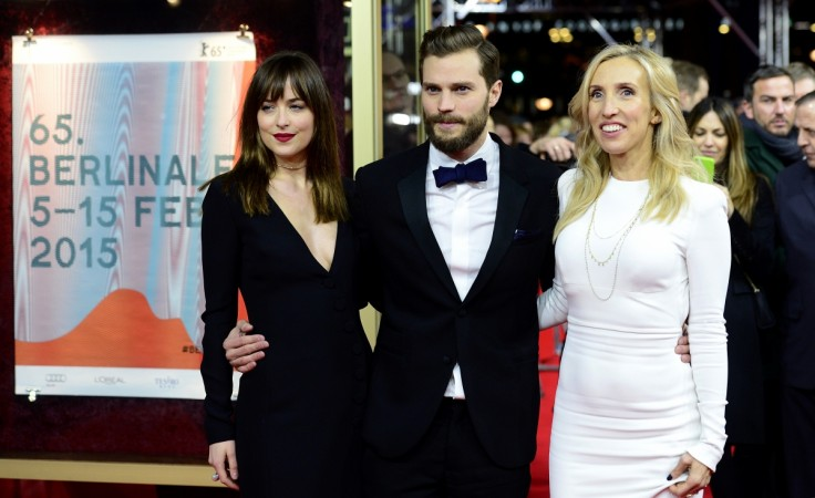 Dakota Johnson, Jamie Dornan, director Sam Taylor-Johnson