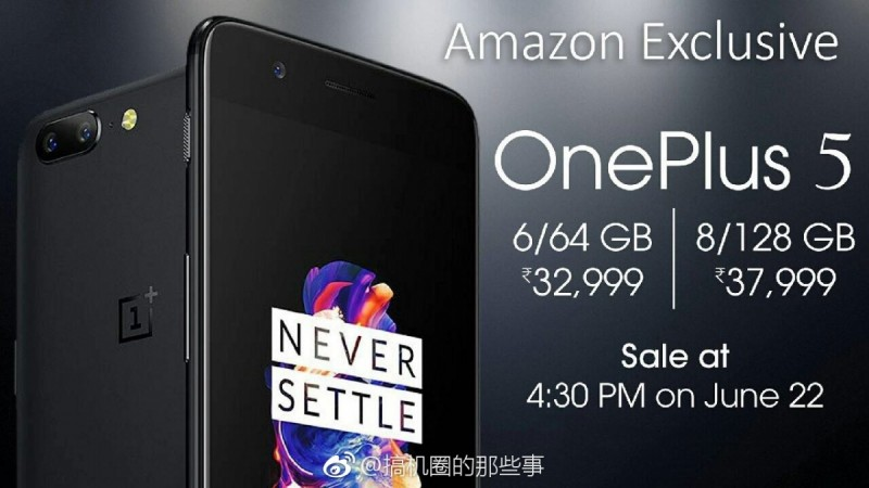 OnePlus 5 poster leaked