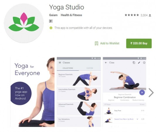 International Yoga Day 2017, Yoga Studio, Google Play, Apple iOS App store