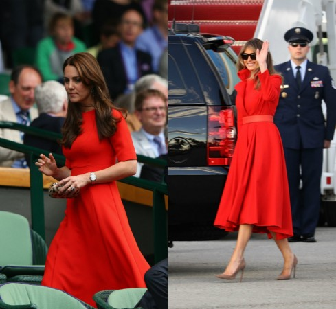 kate middleton melania trump