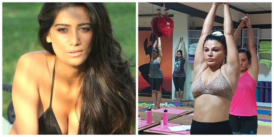 OOPS!! Poonam Pandey Shows Something More Than Bargained On Yoga Day 2017