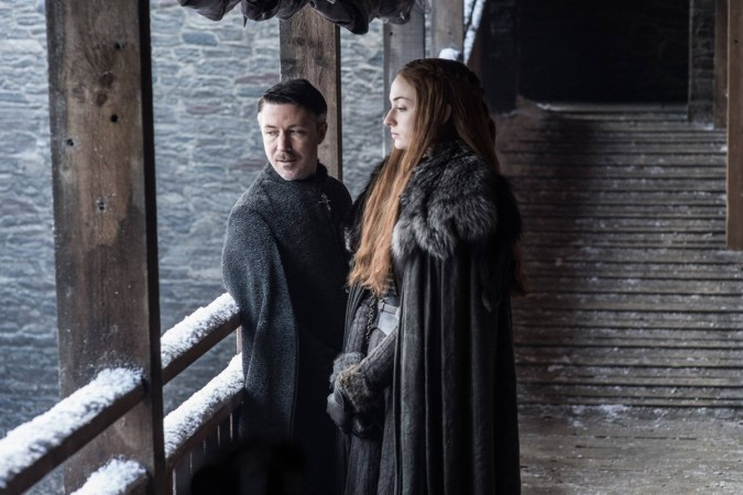 Sansa Stark and Petyr Baelish in Game of Thrones