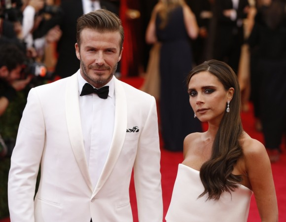 David Beckham hits back at criticism over kissing daughter on the lips