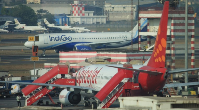 Five injured after jet blast from SpiceJet aircraft shatters IndiGo coach window