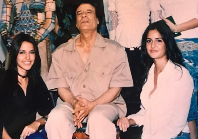 Picture of Katrina's rendezvous with disgraced Libyan ruler Gaddafi goes viral