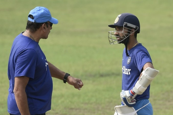 Image result for ravi shastri with rahane