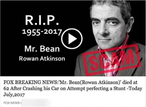 Rowan Atkinson death hoax post