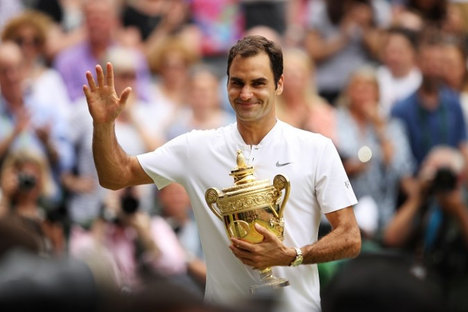 Roger Federer, Wimbledon 2017, men's singles, final, trophy