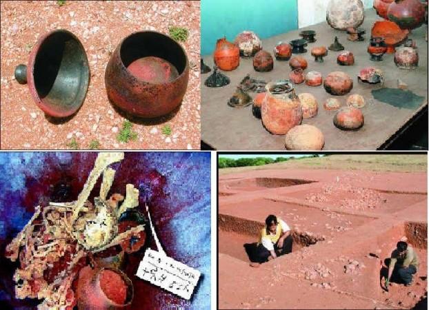 burial urns, earthen pots,
