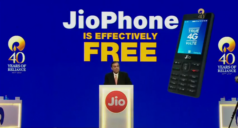 Reliance Jio Phone launched at AGM