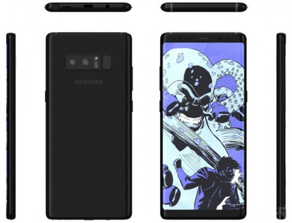 Samsung Galaxy Note 8 shines in new renders
