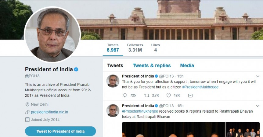 President Kovind debuts on Twitter with over 3 million followers