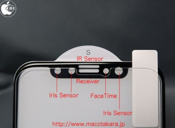 Apple iPhone 8, image, design language, front panel, Iris scanner, FaceTime camera
