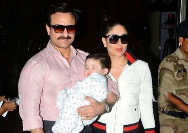Saif Ali Khan, Kareena Kapoor and Taimur