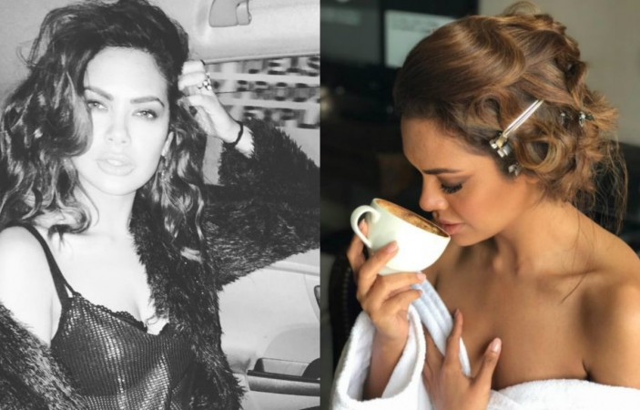 Wow! Esha Gupta is back in sexy black lingerie for photo shoot