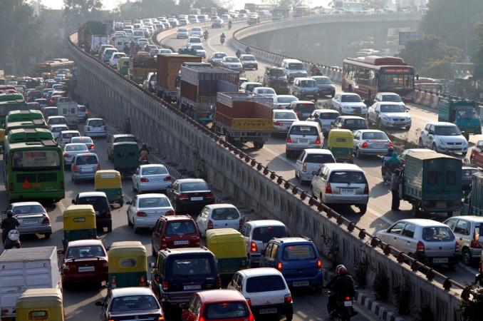 Vehicular traffic in India