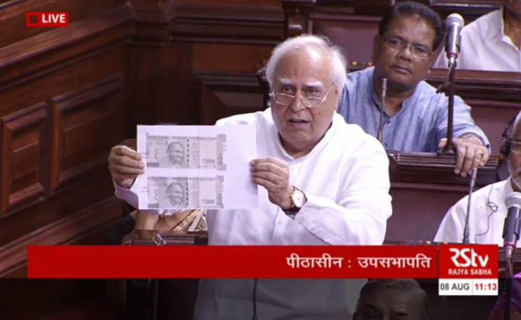 Rajya Sabha adjourned twice over currency notes