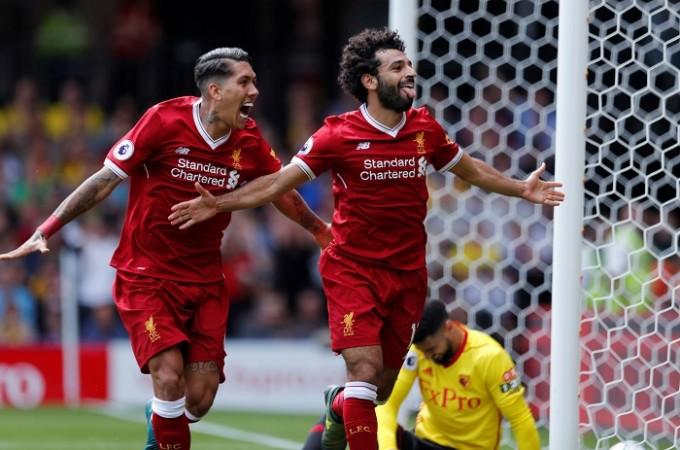 Roberto Firmino, Mohamed Salah, Liverpool, Watford, EPL