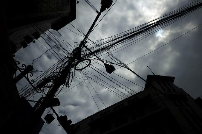 Wires, poles, electricity poles