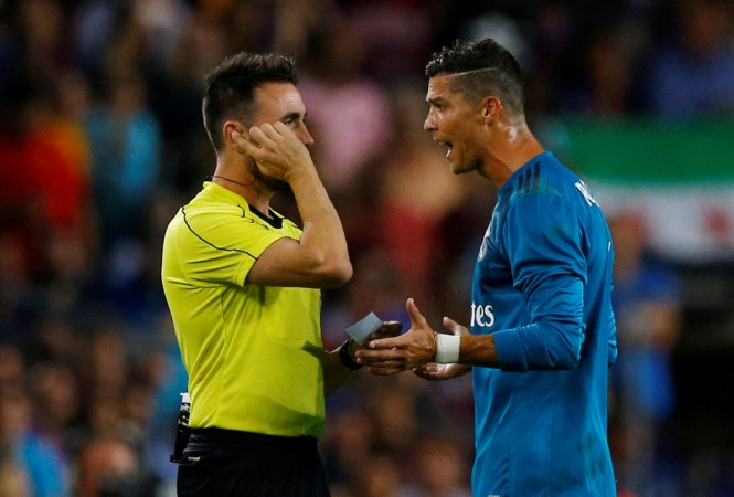 Cristiano Ronaldo, Real Madrid, red card