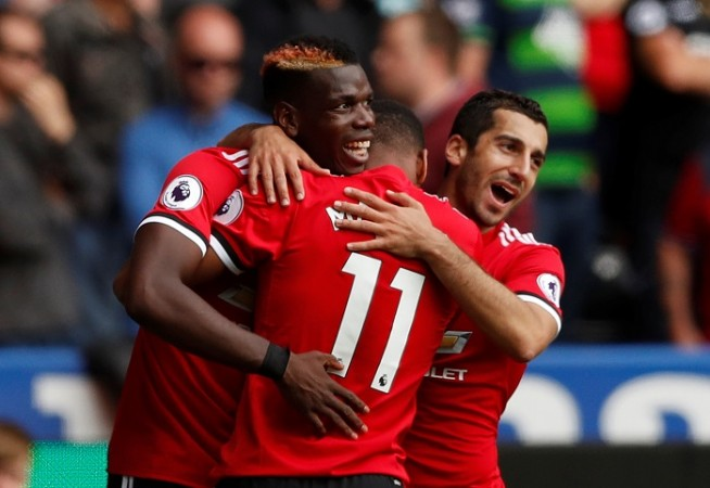 Paul Pogba, Henrikh Mkhitaryan, Manchester United