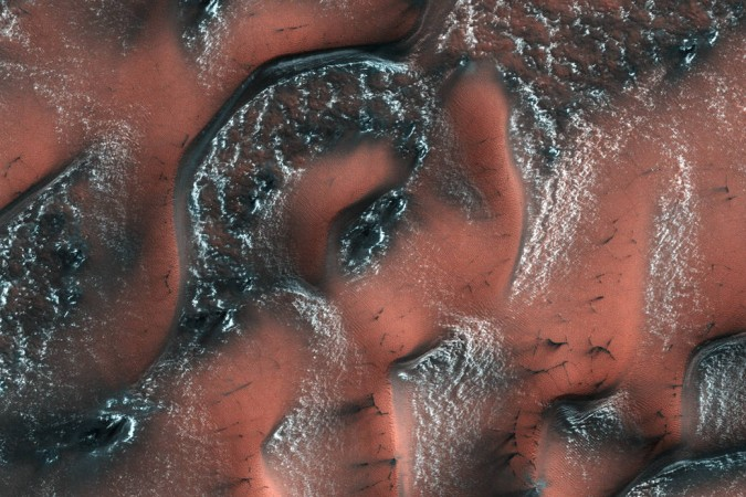SEE PIC: NASA unveils 'beautiful patterns' of snow-covered dunes on Mars