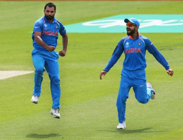 Virat Kohli, Mohammed Shami, India vs Sri Lanka.
