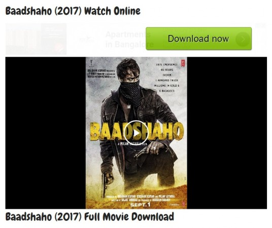 Free Download Film Box Office: Baadshaho Full HD Movie Leaked To Watch Online Or Download