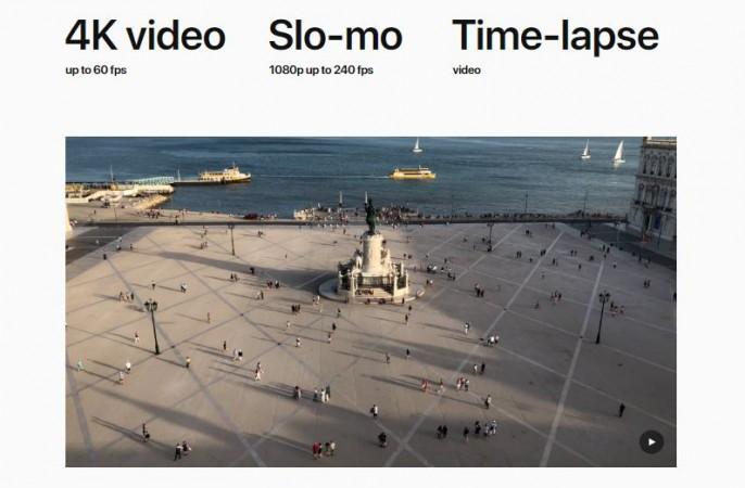 iPhone X 4K videos