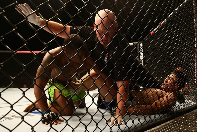 MMA referee hurt by fighter