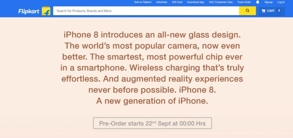 Apple iPhone 8, iPhone 8 Plus, Flipkart, pre-order, India, price, specifications