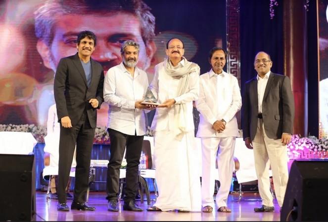 Vice President honours Baahubali director SS Rajamouli with ANR National Award